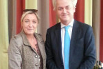 Racist populist Geert Wilders with French fascist leader Marine Le Pen