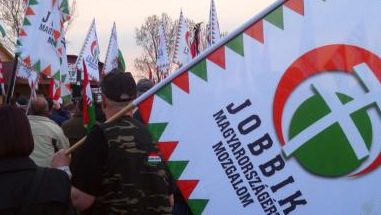 Jobbik on the march in Budapest September 2013. Pic credit: Martin Smith