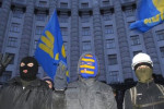 Fascist Svoboda activists occupied Kiev city hall in December. Now the party is in government. Pic credit: AP