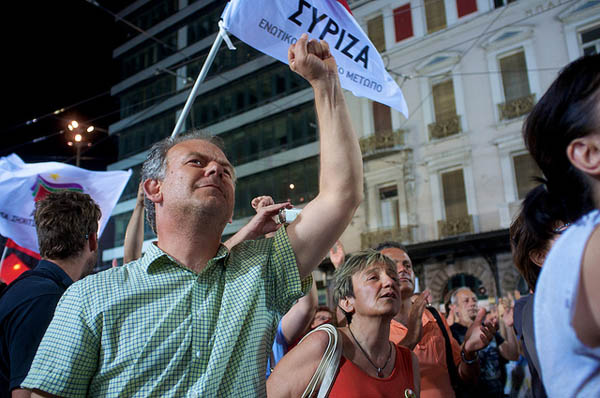 There's been a strong showing by the radical left Syriza. Pic credit: Mehran Khalili.