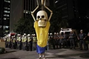 Opposition to the World Cup in Brazil (pic credit Favio)