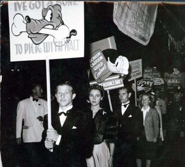 Disney Strike, 1941. Pic credit: Kosti Ruohomaa