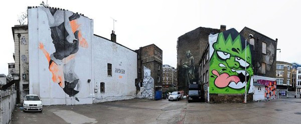 Leonard St (from left to right) Pow Wow, Run, Faith 47, Mysterious Al and Rone. Pic credit: Martin Smith
