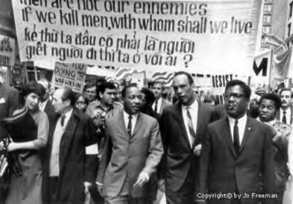 Martin Luther King on the march. Pic credit: Jo Freeman