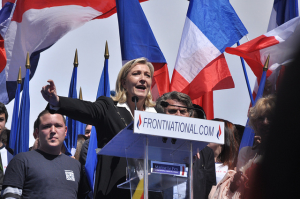 France: Fascist Front national leader Marine Le Pen. Pic credit: Blandine Le Cain