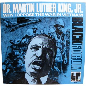 Cover of Black Forum Record cover of Martin Luther King's speech on Vietnam War