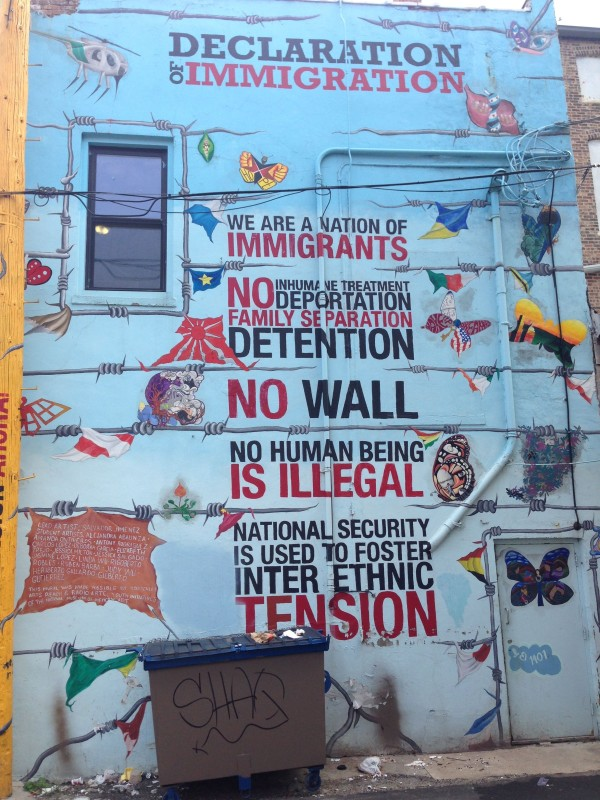 Declaration Immigration by Salvador Jimenez (Pic Credit Martin Smith)
