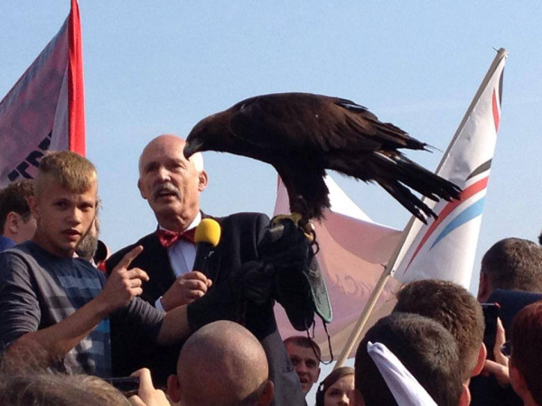 Janusz Korwin-Mikke at a KNP event