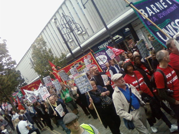 Marching against the UKIP conference in Doncaster. Pic credit: Tash Shifrin