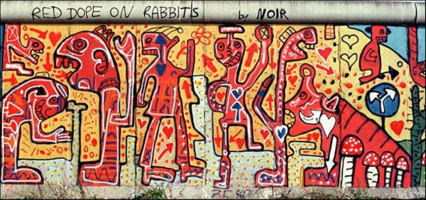 An original piece of Noir's work on the Berlin Wall (pic credit Martin Smith)