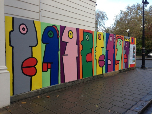 Another series of murals outside the German Embassy (pic credit Martin Smith)