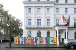 Noir paintings outside the German Embassy, Belgrave  Square (Pic credit Martin Smith)