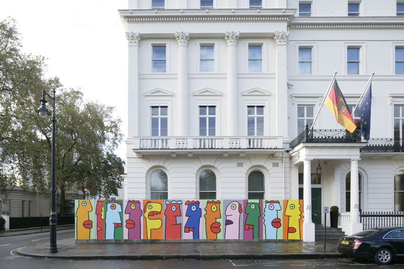 dream deferred the berlin wall the german embassy and thierry noir. Black Bedroom Furniture Sets. Home Design Ideas