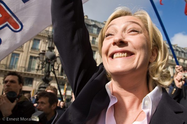 Fascist Front National leader Marine Le Pen. Pic credit: Ernest Morales