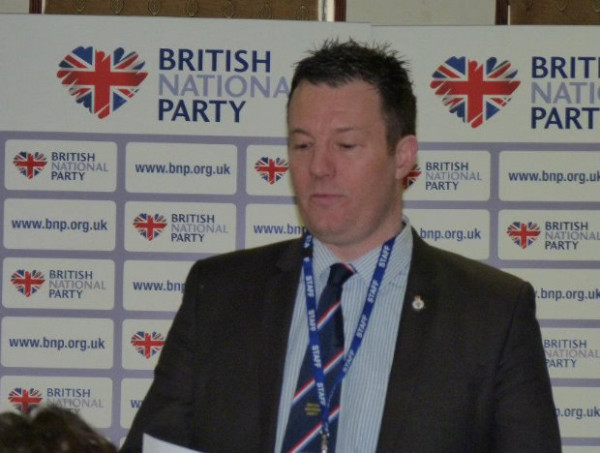 BNP leader Adam Walker, one of the party's eight general election candidates