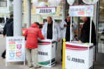 Jobbik election stand