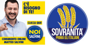 The Lega's Italy-wide organisation, Noi Con Salvini and Casa Pound's new front, Sovranità