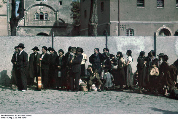 Roma civilians in Asperg, Germany are rounded up for deportation by German authorities on 22 May 1940. (pic credit Bundesarchiv)