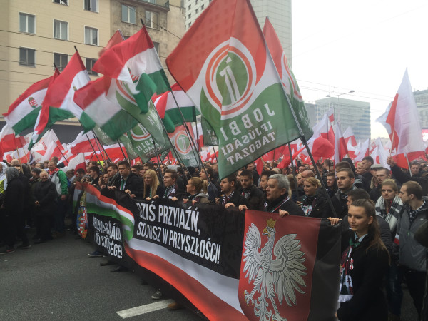 The contingent from Hungary's Jobbik