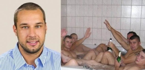 SNS election candidate Martin Patoprstý was suspended after this photo emerged. Pic credit: Blackblog.sk