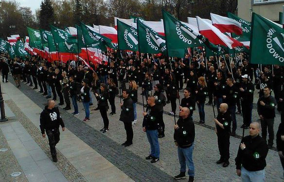 Fascists drilling in Bialystok this week
