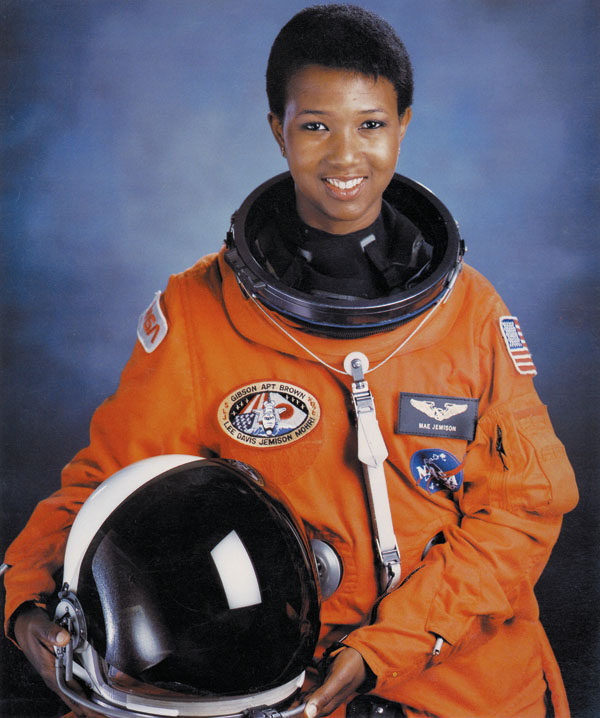 Mae Jemison, the first African-American woman to travel in space, was inspired by Uhura as a little girl