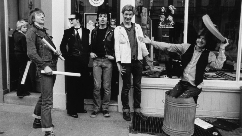 The Damned outside Stiff Records (pic credit TeamRock)