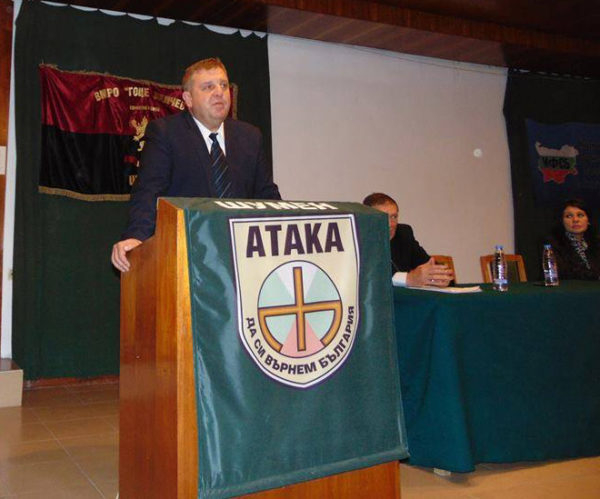 Krasimir Karakachano, presidential candidate for the United Patriots Coalition, which brings together three main fascist parties