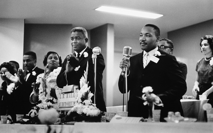 Jackie Robinson with Martin Luther King